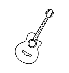 Guitar icon outline style vector image vector image