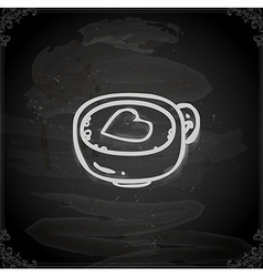 Hand Drawn Coffee with a Love Heart vector image vector image