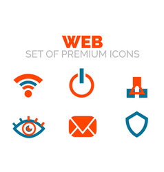 set of web internet www concepts vector image
