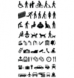 signage people graphics collection vector image vector image