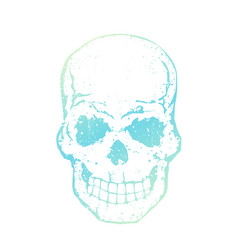 skull with tender gradient isolated on white vector image
