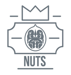 walnut logo vintage style vector image