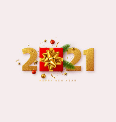 2021 happy new year vector image