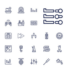 22 control icons vector