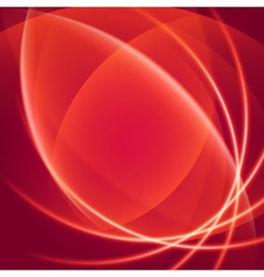 Abstract soft waves light lines background vector image