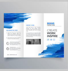 Abstract watercolor business trifold brochure vector