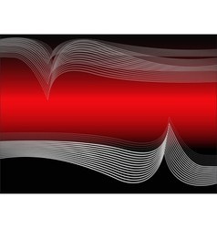 Abstract wavy background in red tones vector image