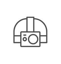 Action camera head strap line icon vector