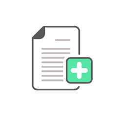add document file page plus icon vector image