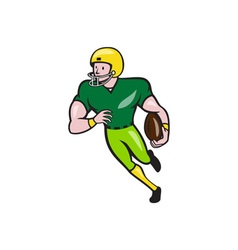 American Football Receiver Running Isolated vector