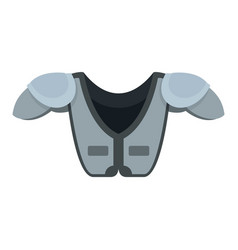 American football shoulder chest protect icon vector