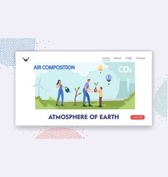 Atmosphere earth landing page template air vector
