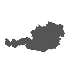 austria map black icon on white background vector image