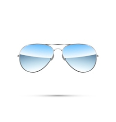 Aviator sunglasses isolated on white vector