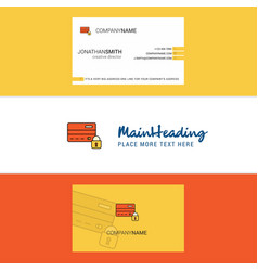 beautiful secure credit card logo and business vector image