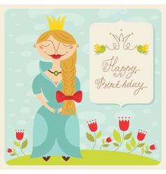 birthday princess card vector image