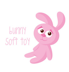bunny soft toy vector image