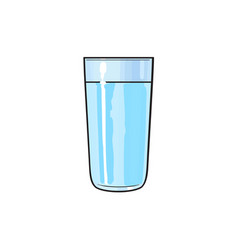 Cartoon glass cup of cold fresh water vector