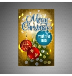 Christmas Poster background with blurred vector image