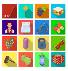 Clothes box weight and other web icon in flat vector
