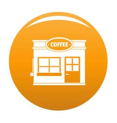 Coffee trade icon orange vector
