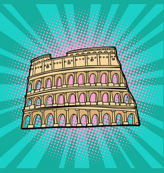 Coliseum rome italy tourism and travel vector