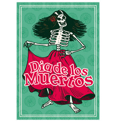day dead posters on a colored background vector image