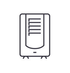 dehumidifier line icon sign vector image