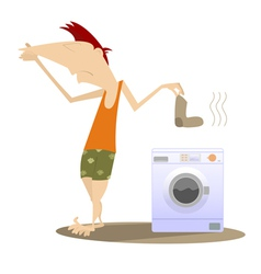 Dirty laundry vector