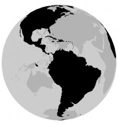 Earth America vector