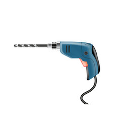 Electric drill on a white background vector