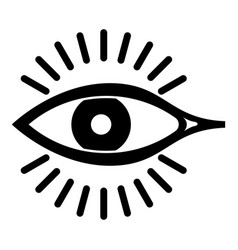eye icon simple style vector image