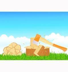 Firewood chop vector image