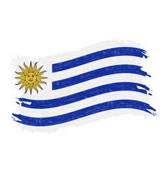 flag of uruguay grunge abstract brush stroke vector image