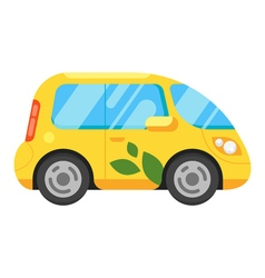 Flat style of electric car vector