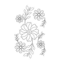 flowers emblem icon image vector image