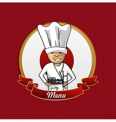 Food from Japan menu poster vector