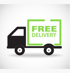 Free delivery car stock design vector