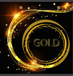 golden abstract background with curls excellent vector image