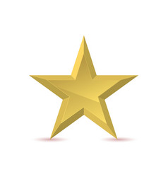 golden star emblem vector image