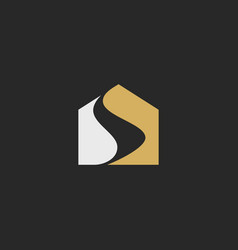 house abstract design logo vector image
