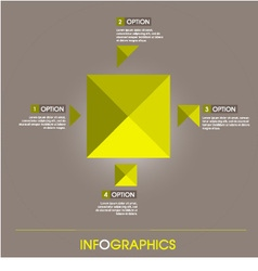 info graphic elements yellow square design vector image