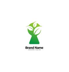 Leaf key logo design inspiration vector