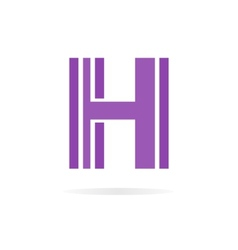 Logo H letter for company design template vector image