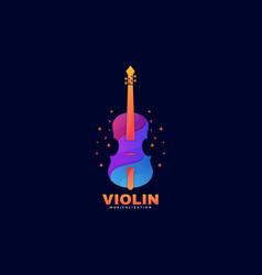 logo violin gradient colorful style vector image