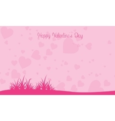 Love with grass landscape valentine backgrounds vector