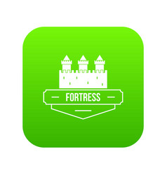 luxury fortress icon green vector image