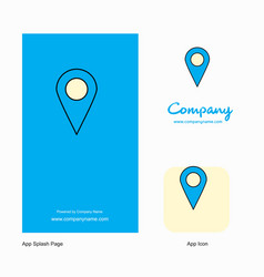 map location company logo app icon and splash vector image