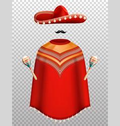 mexican clothes set vector image