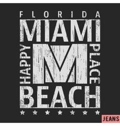 Miami vintage stamp vector image